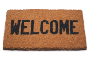 Welcome mat image - connect page